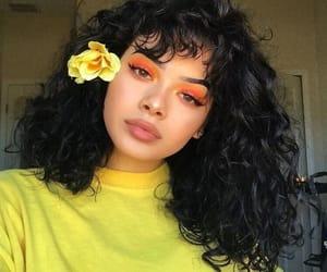 yellow, makeup, and hair image