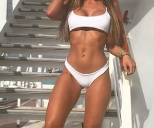 abs, bikini, and muscle image