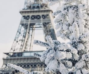 city, france, and snow image