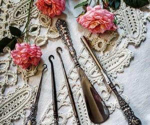 antique, knitting, and needles image
