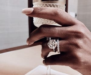 nails, drink, and jewelry image