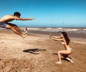 artistic, couple, and beach image