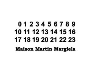 label, Maison Martin Margiela, and mmm image