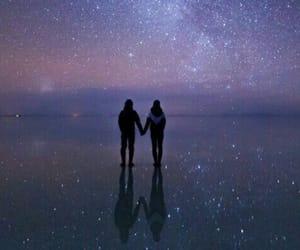 stars, couple, and sky image
