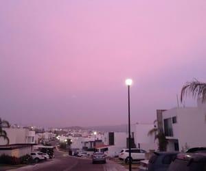 pink, sky, and tumblr image