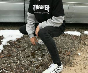 outfit, boy, and vans image