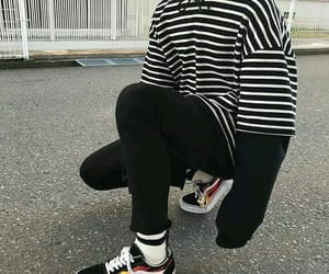 boy, outfit, and black image