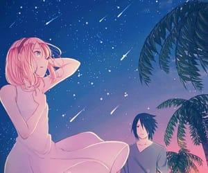 anime, girl, and sakura haruno image