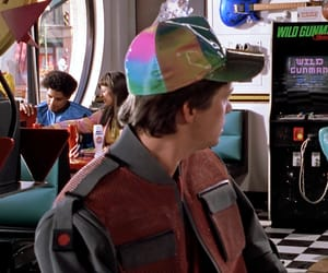 aesthetic, michael fox, and bttf image