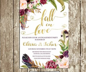 etsy, engagement party, and bridal shower invite image