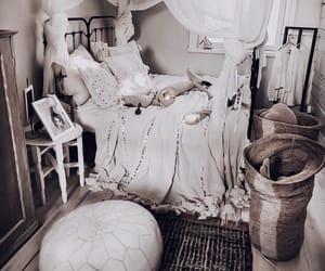bedding, interior, and boho image