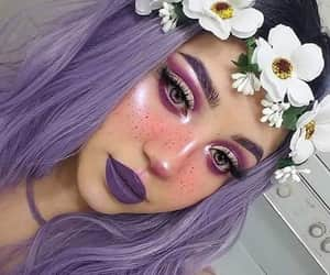 make up and purple image