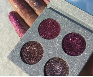 eyeshadow, glitter, and makeup image