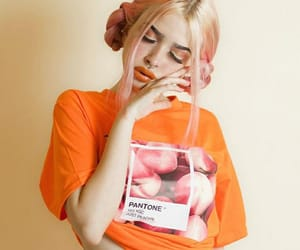 girl, aesthetic, and peach image