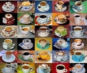 coffee, coffee cups, and Collage image