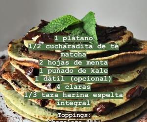 menta, receta, and tortitas de platano image