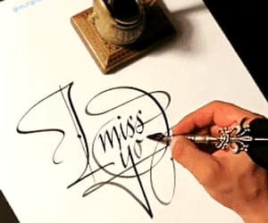 calligraphy, gif, and i miss you image
