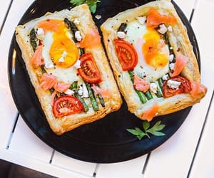 bread, egg, and yum image