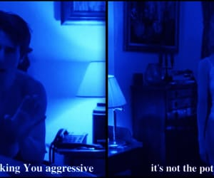 movie quotes, blue aesthetic, and blue glow image