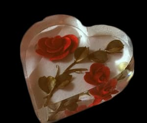rose, heart, and aesthetic image