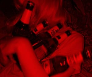 red, alcohol, and aesthetic image