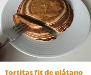 pancakes, fit receta, and hotcakes image