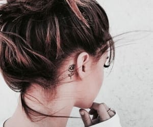 bun, hairstyles, and rings image