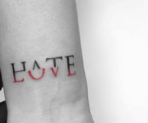 hate, love, and tattoo image
