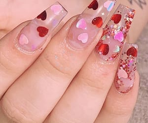 nails, valentine, and aesthetic image