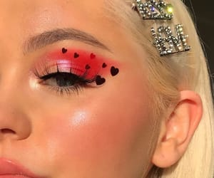 makeup, girl, and valentines day image