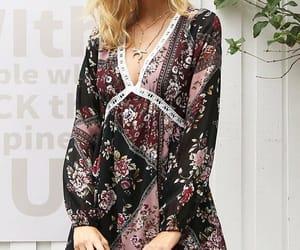 beautiful dress, street style, and boho dress image