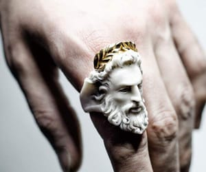 gold, marble, and narcissist image