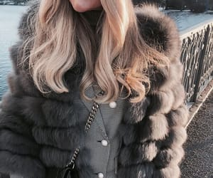 black, blonde, and coat image