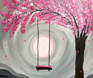 art, pink, and pretty image