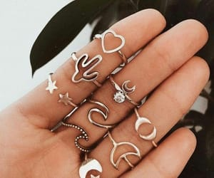 accessory, moon, and rings image