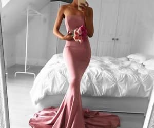 simple prom dress, strapless evening dress, and long formal gowns image