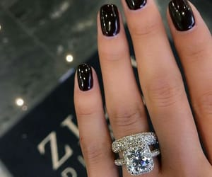 diamond, manicure, and ring image
