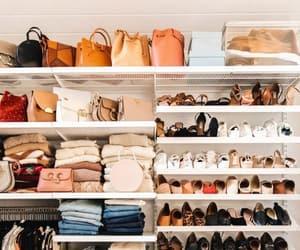 closet, purse, and clothes image