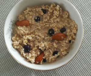 almonds, blueberries, and breakfast image