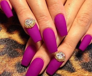 nails, gold, and purple image