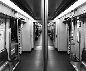 black and white, china, and train image
