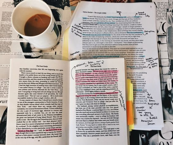books, college, and note image