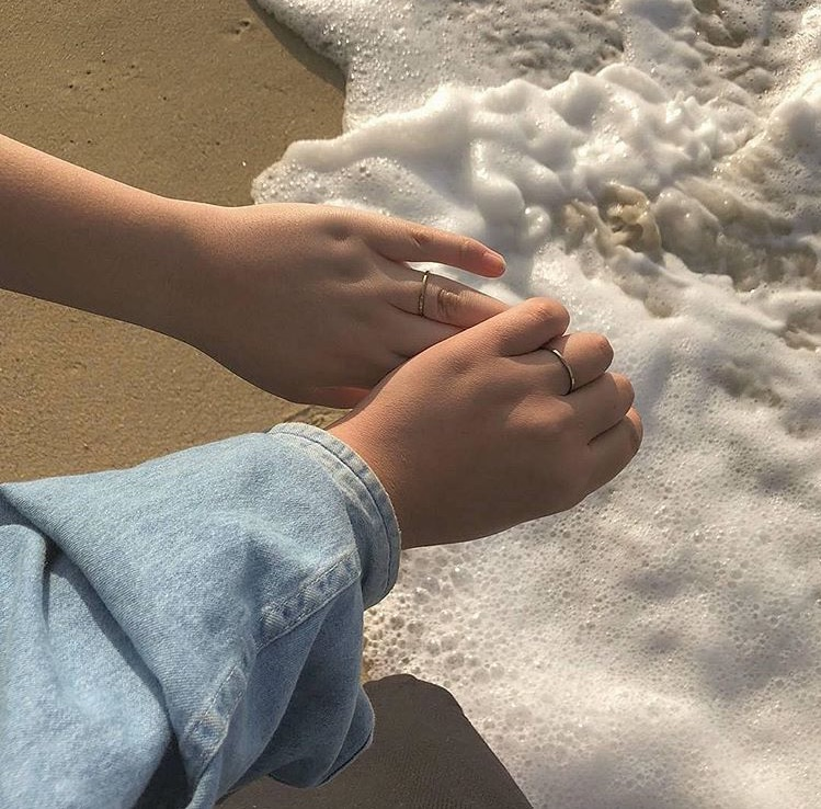 aesthetic, beach, and love image