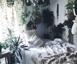 plants, bedroom, and decor image