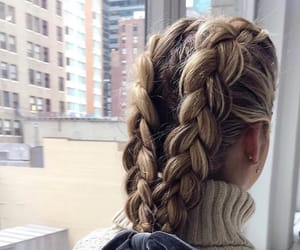 braids, hairstyle, and trenzas image