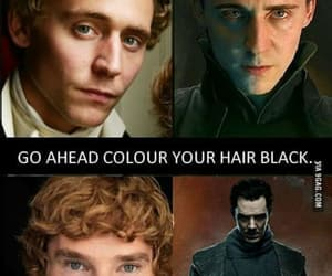 black hair, thor, and tom hiddleston image