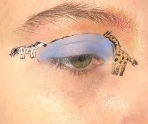 art, eyes, and makeup image