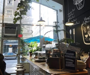 cafe, city life, and green image