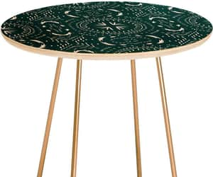 gold, side table, and green image