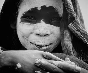 africa, black and white, and boy image